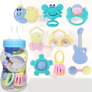 Bộ đồ chơi xúc xắc hình bình sữa 9 chi tiết cho bé -Hàng chất lượng cao