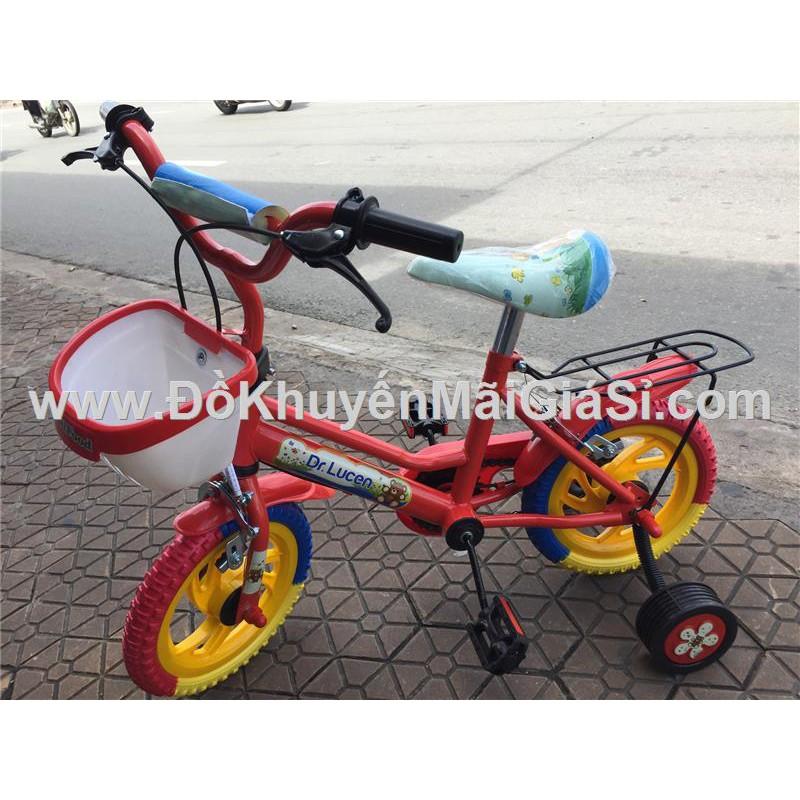 Xe đạp Dr. Lucen cho bé 2 - 4 tuổi, có giỏ trước, yên sau, bánh xe 12 in.