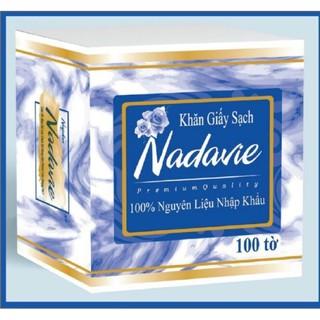 Khăn giấy sạch Nadavie (100% nguyên liệu nhập khẩu) 100 tờ thumbnail