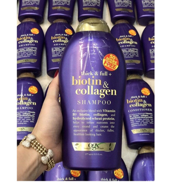 Dầu gội & dầu xả OGX Biotin & Collagen 577ml