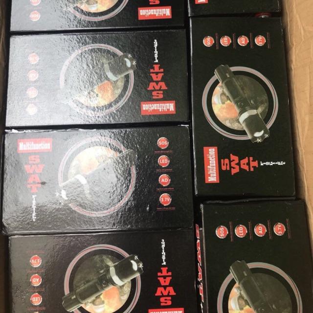 Combo 10 đèn pin police loại 1 siêu sáng có la bàn