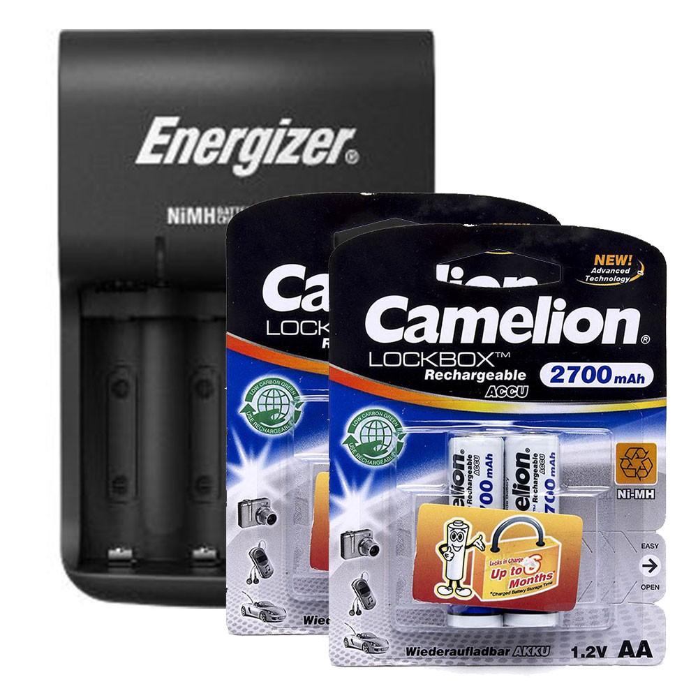 Bộ sạc Energizer Charger BASE kèm 4 pin Camelion AA 2700mAh - 2646138 , 1350309525 , 322_1350309525 , 312000 , Bo-sac-Energizer-Charger-BASE-kem-4-pin-Camelion-AA-2700mAh-322_1350309525 , shopee.vn , Bộ sạc Energizer Charger BASE kèm 4 pin Camelion AA 2700mAh