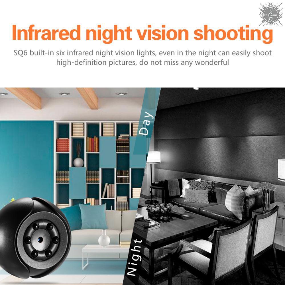 Máy quay an ninh SQ6 1080P góc quay rộng có chức năng nhìn đêm
