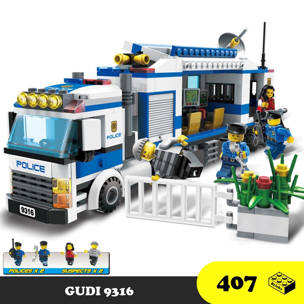 Đồ chơi lắp ráp Xe cảnh sát bắt trộm - GUDI 9316 Lego Police City - 406  mảnh ghép tại Hà Nội