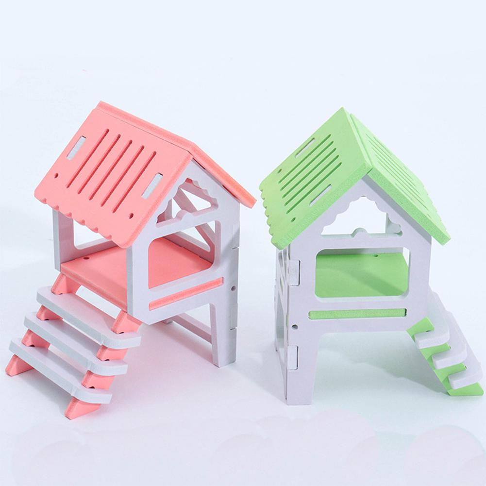 Home Loyal Climb Hamster House Cage Accessory Loft Type Ecological Board Pet Small Animal Anti-aging Observatory Waterproof Toy Nest