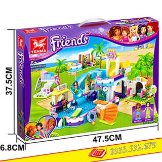 Lego Lắp Ghép Friends Summer Pool TENMA 3011A / 550PCS (Chi Tiết)