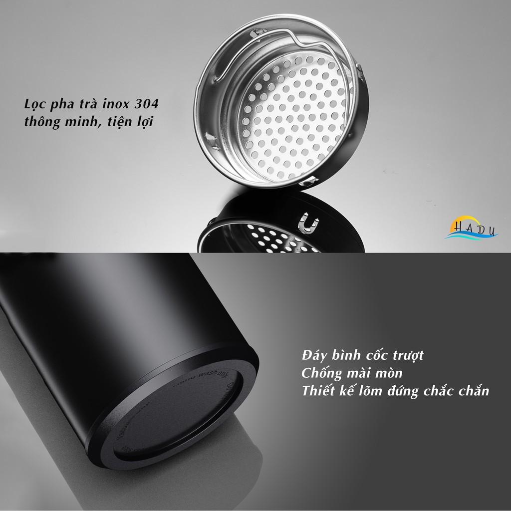 [FLASH SALE 3 NGÀY] Bình giữ nhiệt Inox 304 HADU 500ml cao cấp an toàn theo dõi nhiệt độ trong bình có thể pha trà