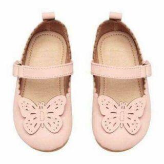Giày bé gái HM đính bướm
