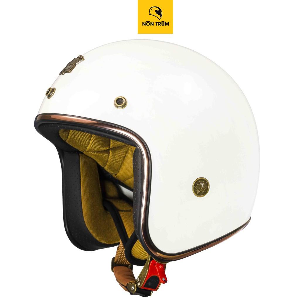 Nón bảo hiểm 3/4 ROYAL M20C trắng bóng