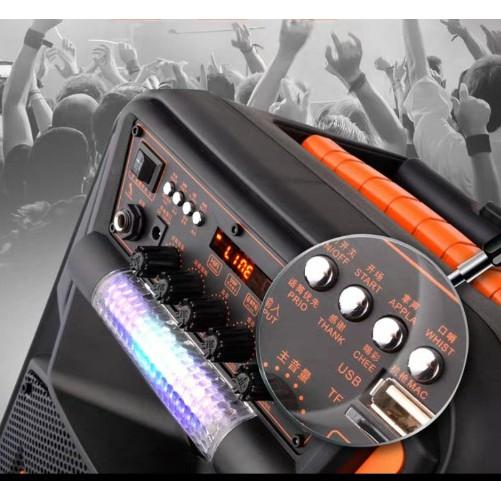 Loa kéo karaoke di động JBZ 0802 loa kéo bluetooth mini hát karaoke gia đình âm thanh cực hay (Tặng 1 micro)