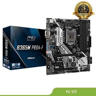 Bo mạch chủ Asrock B365M Pro4-F (Chipset Intel B365 Socket LGA1151 VGA onboard) - Bảo hành 36T chính hãng thumbnail