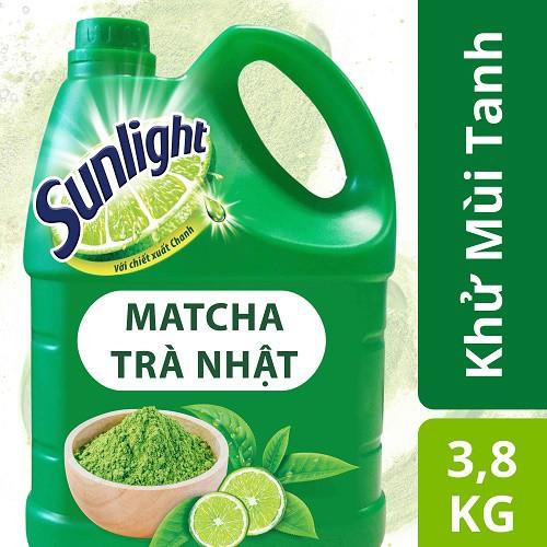Nước rửa chén Sunlight Matcha Trà Nhật MỚI, chai 3.8kg ( MSP 67403249)