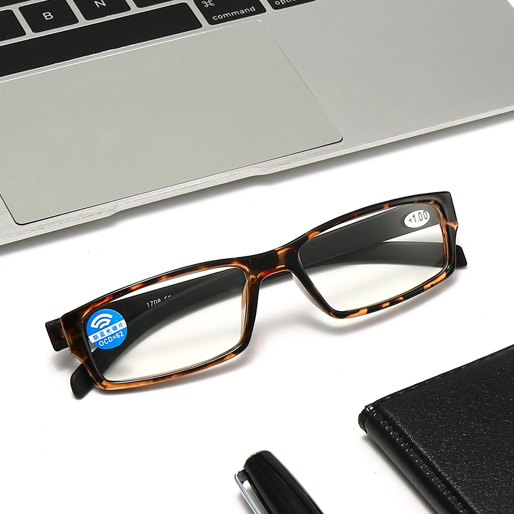 LUCKY🔆 Unisex Reading Glasses Portable PC Frames Presbyopic Glasses Vision Care Anti Blue Light High-definition Ultralight Eyeglasses