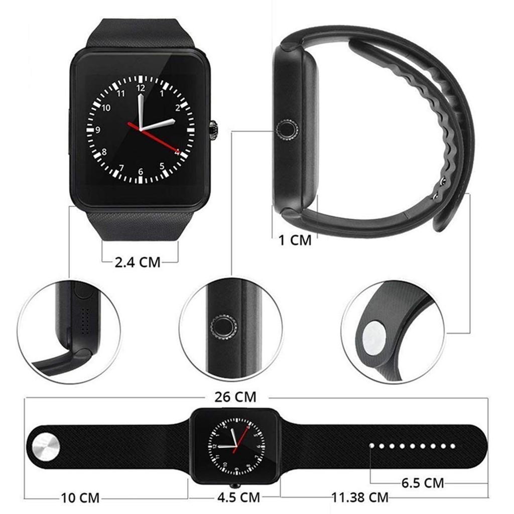 Đồng hồ thông minh màn hình cảm ứng chạm hệ điều hành Android iPhone