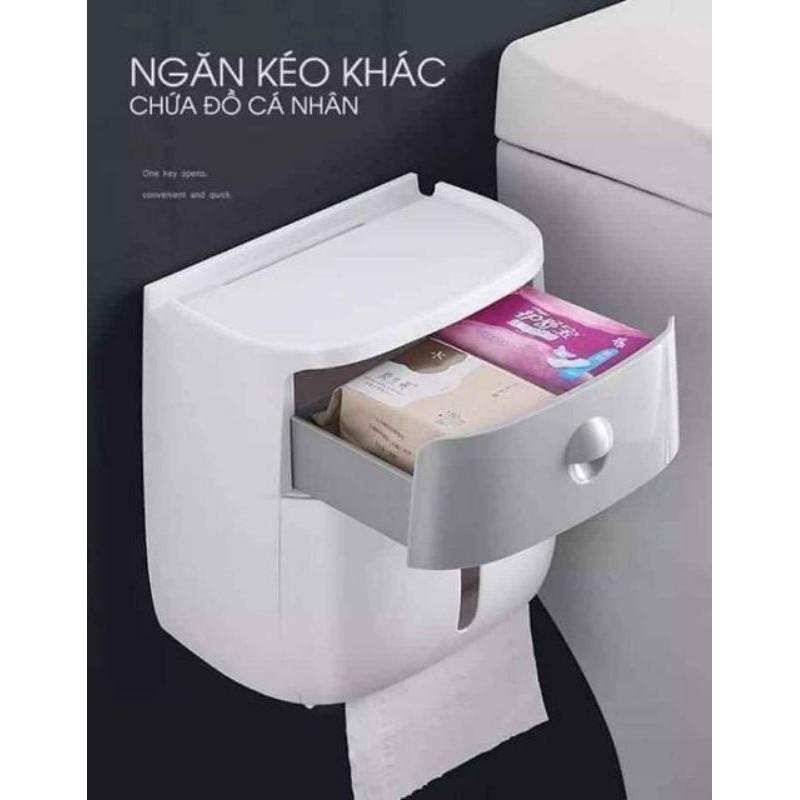 Hộp đựng giấy vệ sinh ECOCO, hộp đựng giấy đa năng tiện dụng 2 tầng