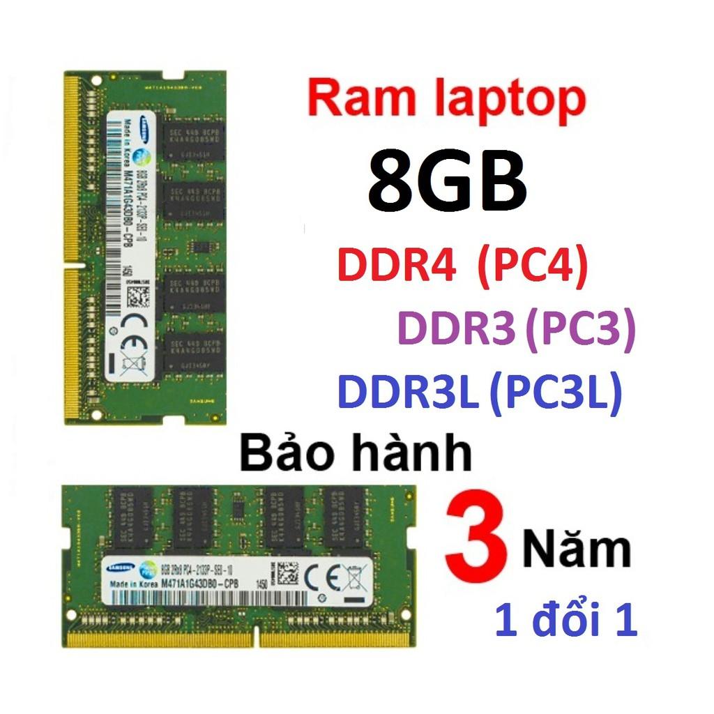 Ram ddr4 8gb ddr3 8gb ddr3l 8gb pc3-12800s pc3l-12800s pc4-2400T 2133P pc4-2666V bus 1333 1600 2133 2400 2666 tháo máy