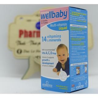 Wellbaby Multivitamin liquid [UK] – Vitamin Tổng Hợp Cho Bé 6 tháng – 4 tuổi