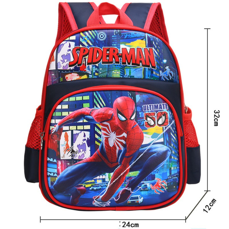 Ba lô cho bé  trai  siêu nhân người nhện Spiderman cho bé mẫu giáo 1-5 tuổi