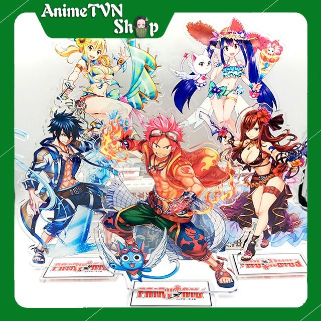 Tượng Mica Standee anime/manga Fairy Tail (Hội đuôi tiên) Nhựa Cứng Acrylic In nhiều chi tiết sắc nét