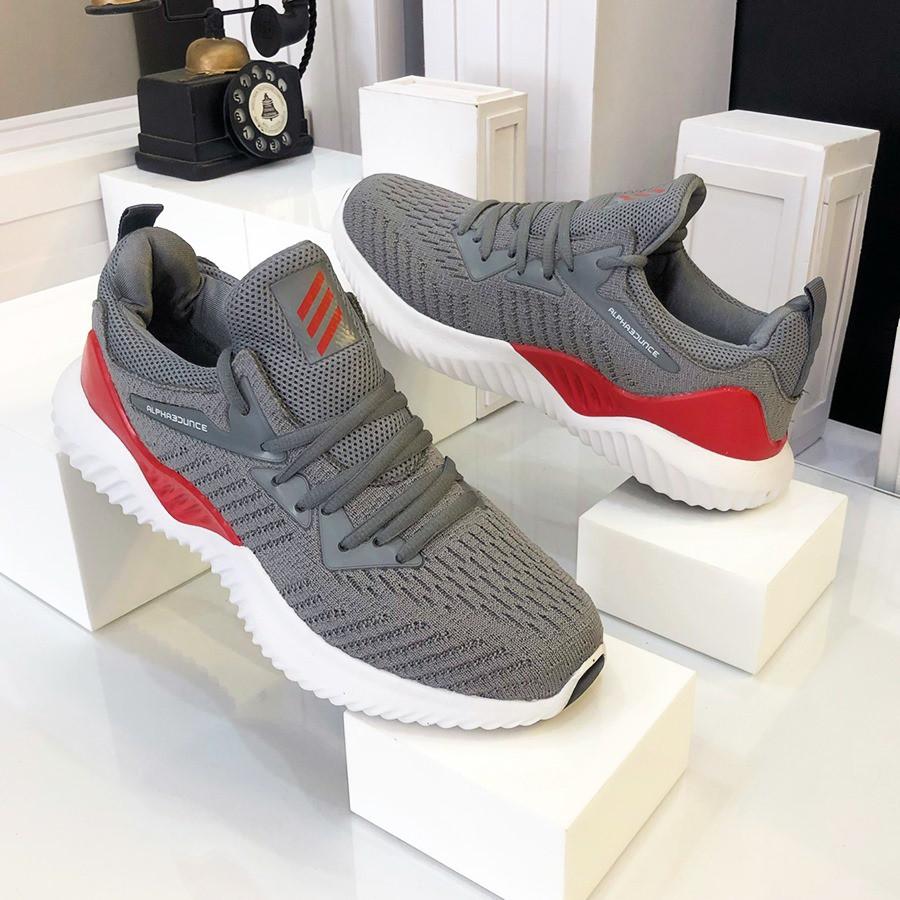 Giày thể thao 💥𝑭𝑹𝑬𝑬𝑺𝑯𝑰𝑷💥-  Giày Nam Tập Gym - Sneaker Màu Xám Đỏ Mới Nhất