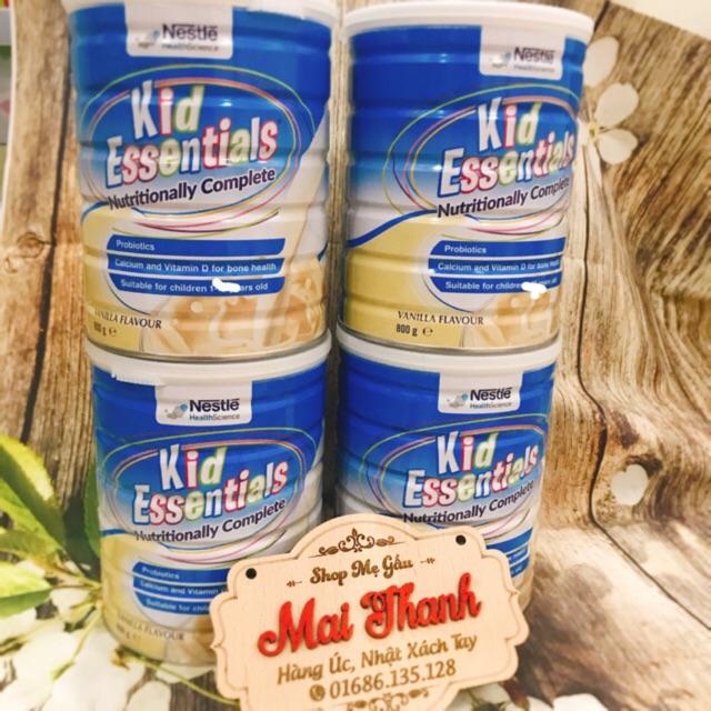 Sữa Kid Essentials của Úc date 7-2020 850gr cho bé từ 1 tuổi