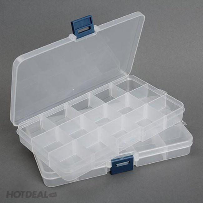 Dụng cụ đựng đồ ăn, trang sức 10 ngăn bằng nhựa