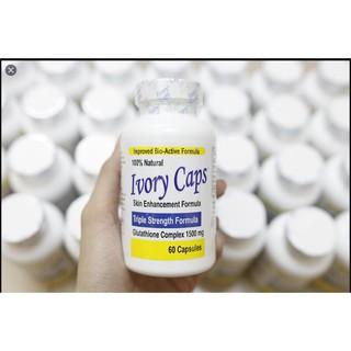 Ivory Caps Pills Viên uống làm trắng da tự nhiên với Glutathione 1500mg, 60 viên 3