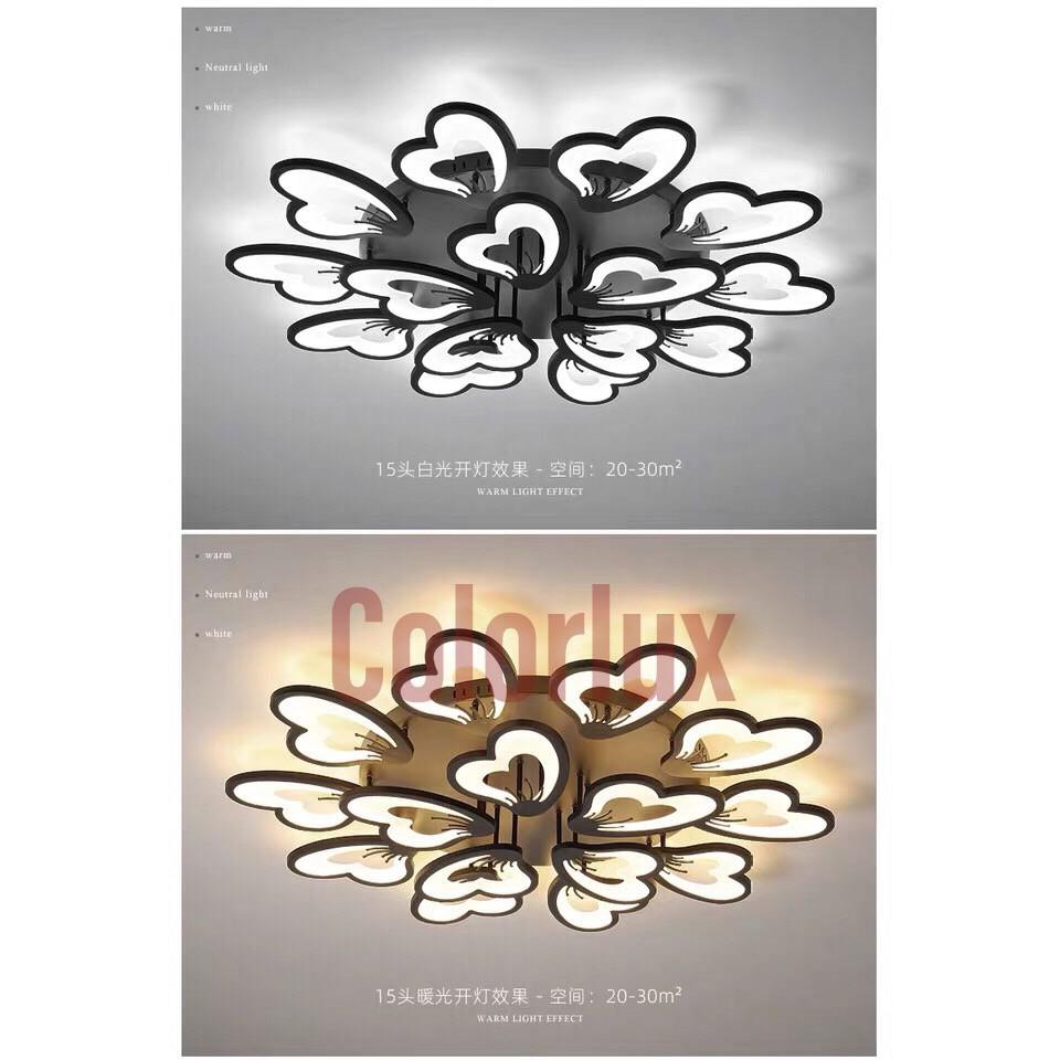 Đèn mâm - Đèn trần trang trí 10+5 cánh #Đènốptrần