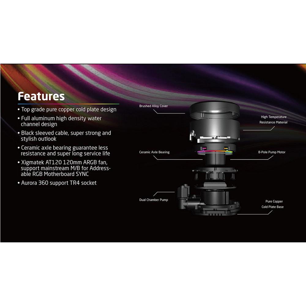 Tản nhiệt nước XIGMATEK AURORA 240 ARGB (EN42807) AIO WATERCOOLING
