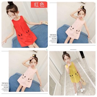 Váy Túi Mèo Dáng Chữ A Cho Bé Gái 1-5 tuổi