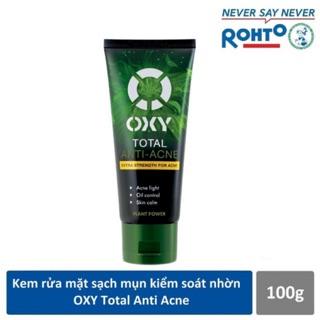 OXY Total Anti-Acne – Kem rửa mặt làm dịu da, kiểm soát nhờn, sạch khuẩn mụn 100g