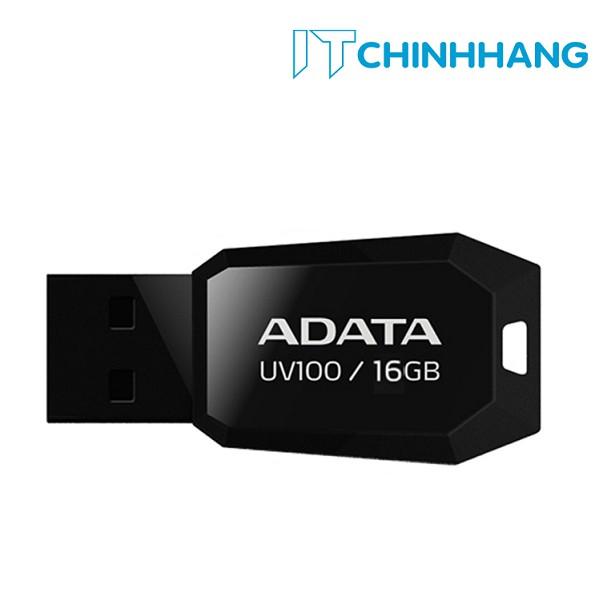 USB 16GB ADATA UV100 ĐEN - HÃNG PHÂN PHỐI CHÍNH THỨC