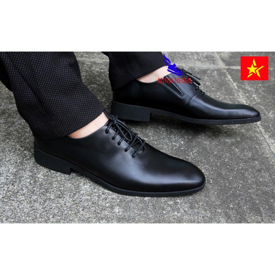Giày tây nam da bò giày công sở buộc dây da bò cao cấp Thời trang Hàng hiệu Giá rẻ Mẫu Mới Đế Khâu Hàng xuất khẩu B-10