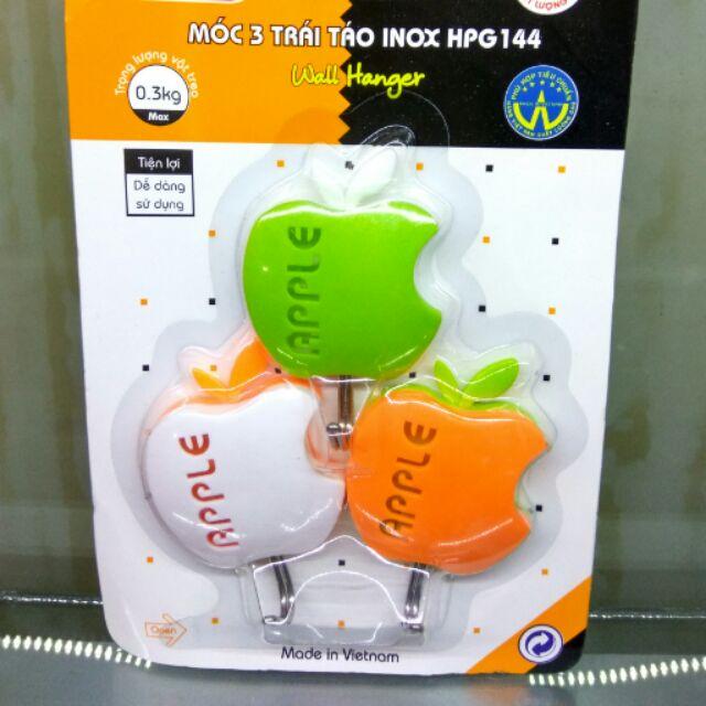 Móc 3 trái táo inox HPG144