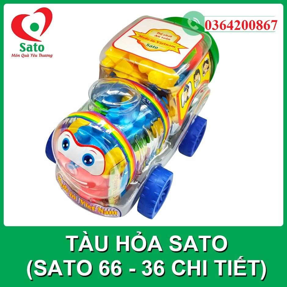 Xếp hình mầm non - Tàu hỏa Sato 36ct (Sato66)