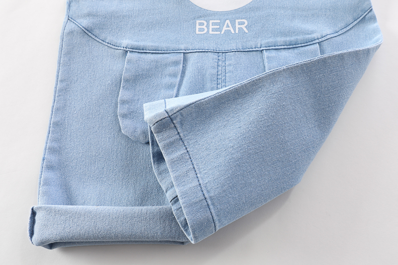 [Mã FAGREEN245 giảm 10% tối đa 30K đơn 99K] Set áo tay ngắn kẻ sọc + quần yếm denim thời trang mùa hè cho các bé