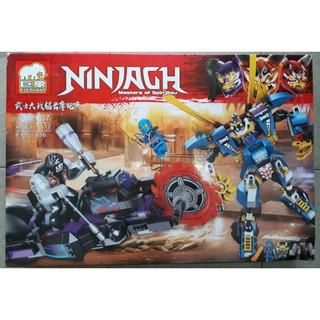 Lắp ráp ninjago người máy đại chiến xe máy cắt JX82007