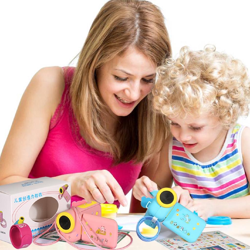 Mini Puzzle Cartoon Cameras HD Children's Toy Digital Camera