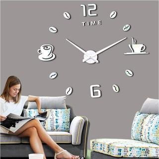 Bộ đồng hồ số mica loại lớn mẫu tách cà phê (đường kính rộng 1.2m) MẪU E