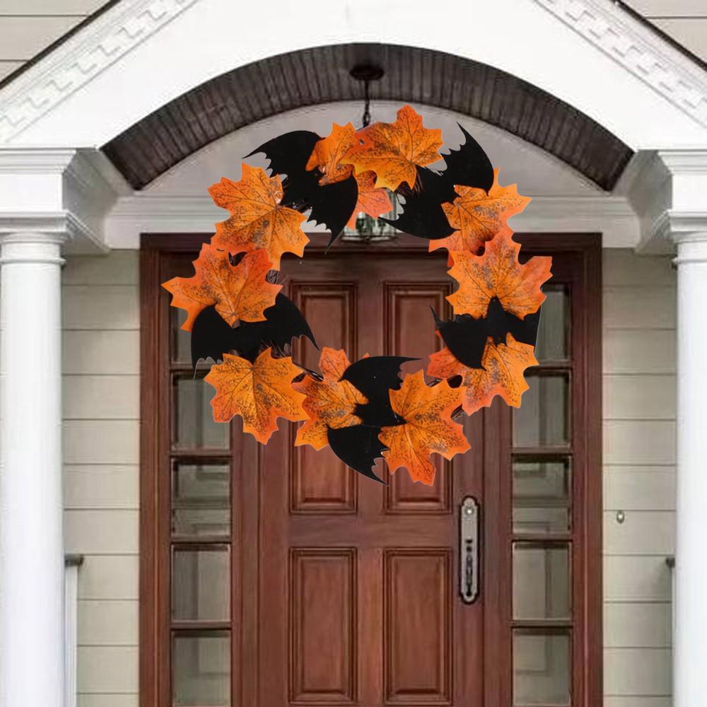 Halloween Thanksgiving Decoration Wreath Pendant Bar Window Decorations