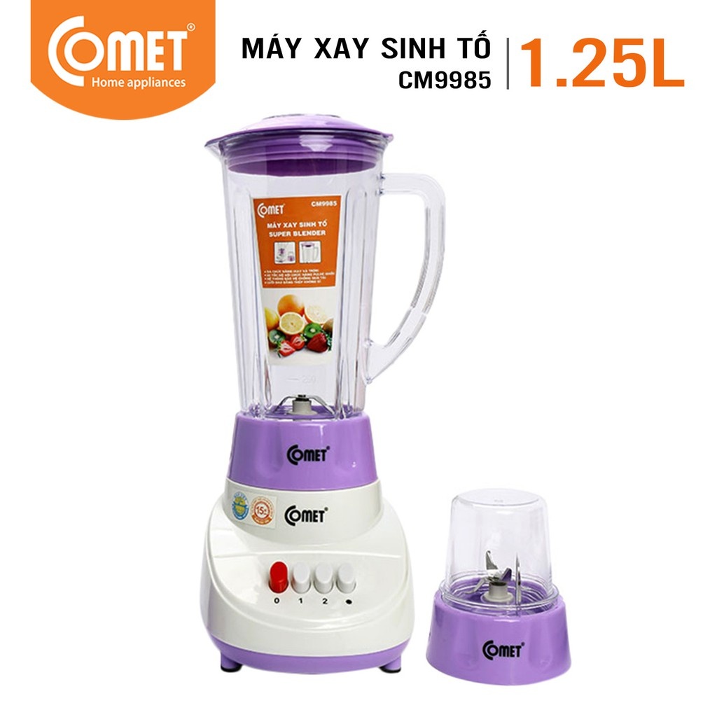Máy xay sinh tố COMET CM9985 2 cối 1.25L
