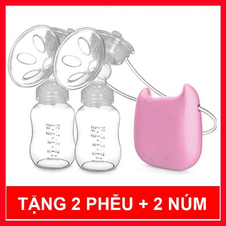 [Tặng 2 Phễu Silicone + Núm Ty] Máy hút sữa điện đôi Yado mát xa kích sữa
