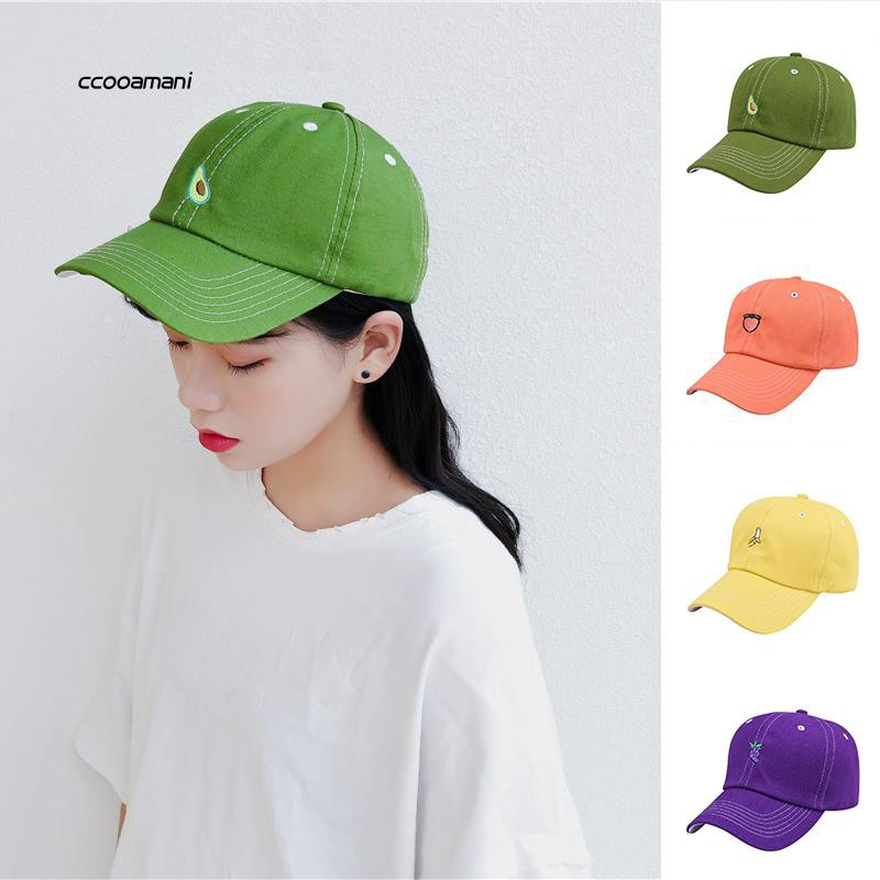 COMI_Embroidery Fruit Avocado Grape Unisex Banana Casual Cotton Hat Baseball Cap