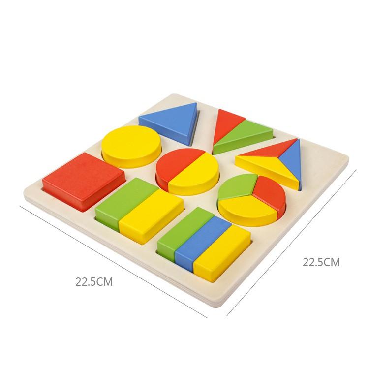 Đồ chơi gỗ - Bảng chia phân số 3 hình cơ bản Vivitoys