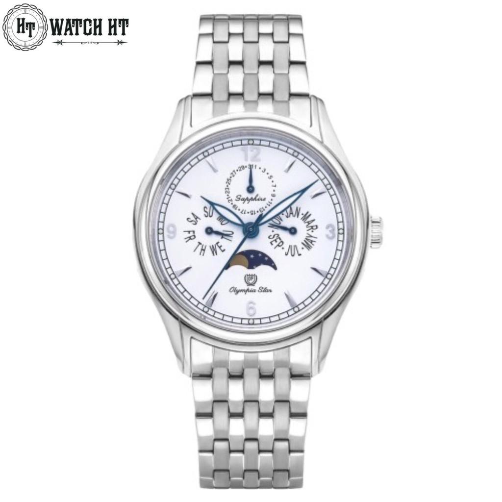 Đồng hồ Nam OLYMPIA STAR 98022-MS-T full hộp chính hãng, kính sapphire chống xước ch