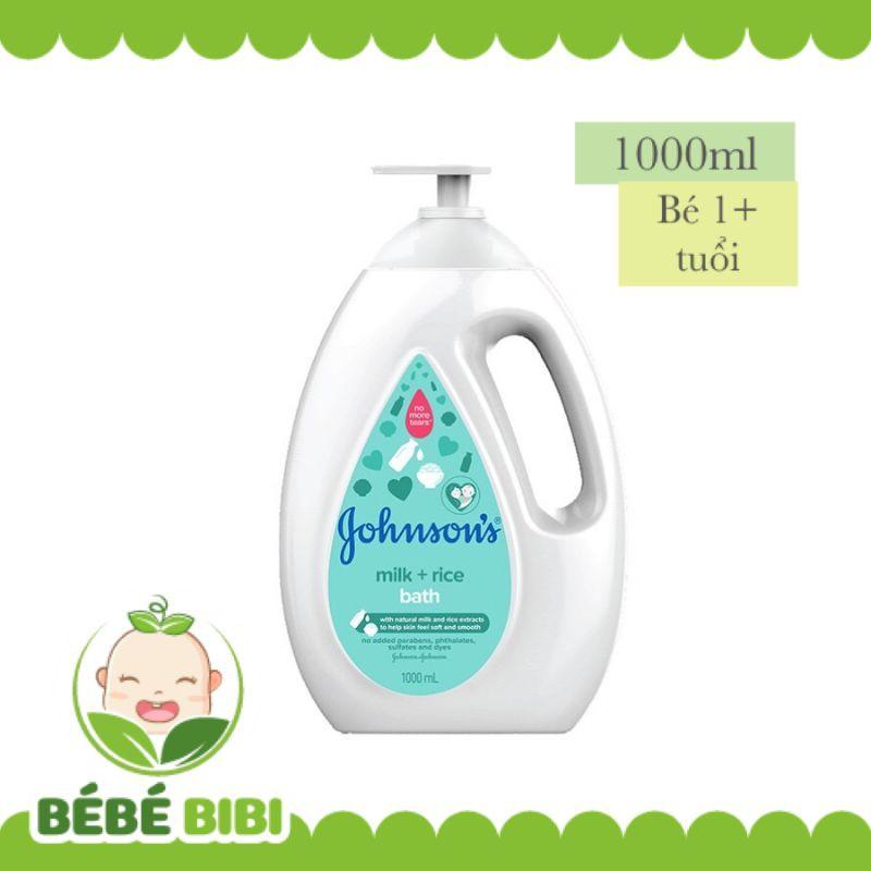 Sữa tắm JOHNSON'S BABY chứa sữa và gạo/sữa và yến mạch chai 1000ml