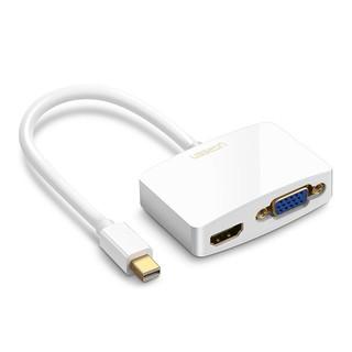 Cáp mini Displayport to HDMI và VGA chính hãng Ugreen 10427