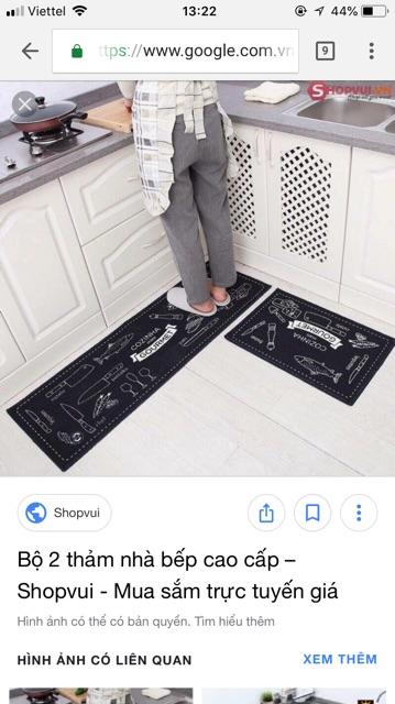bộ thảm nhà bếp hàng loại đẹp