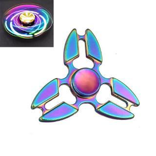 Hand Spinner Multicolor Rainbow Crab Claw Tri Hand Spinner Metalfidget Anxiety ChildrenToys