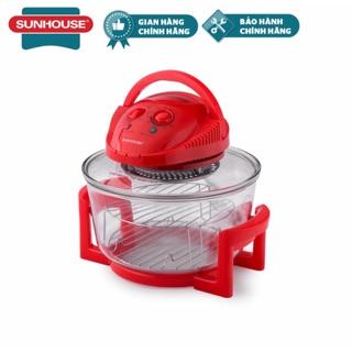 Lò nướng Thủy Tinh 12 lít Sunhouse SH416 đỏ